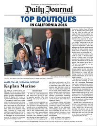 Top 20 Boutique Law Firm in California